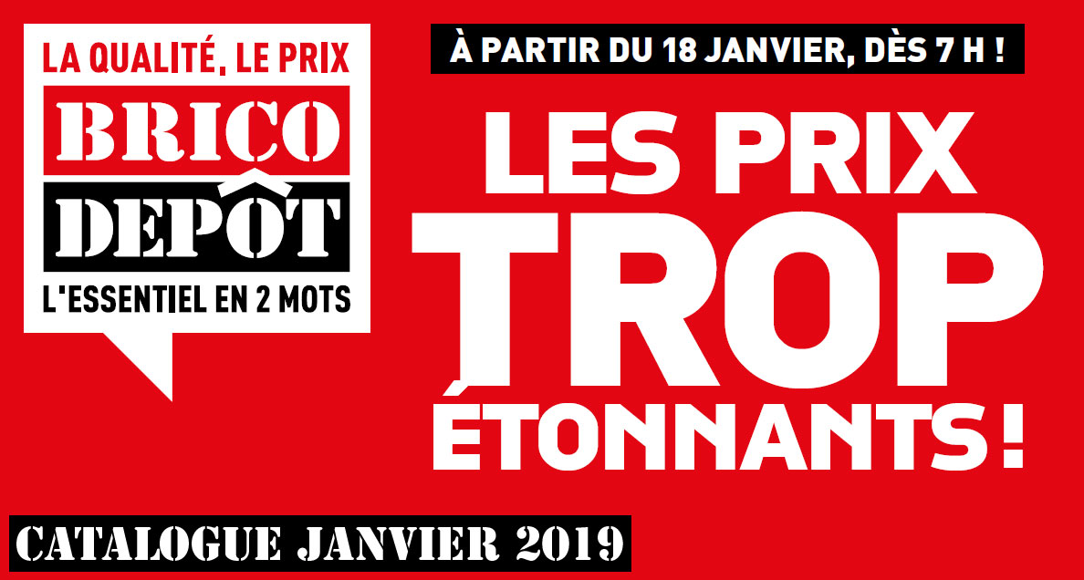 catalogue brico dépot janvier 2019